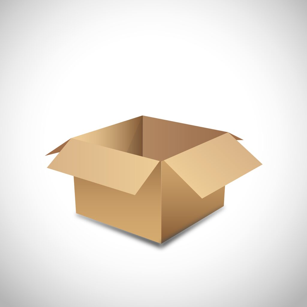cardboard, vector, empty