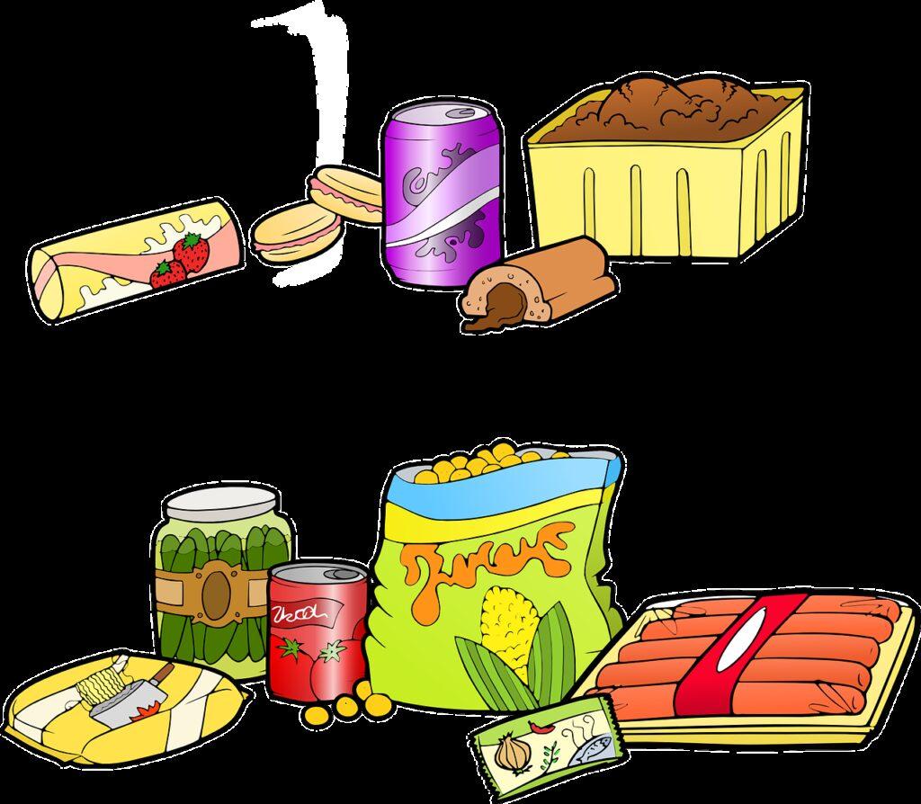 fast food, junk food, industrial food