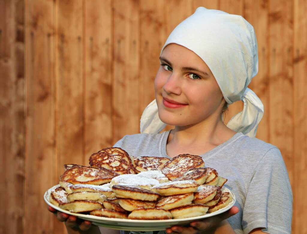 pancakes, cook, cakes